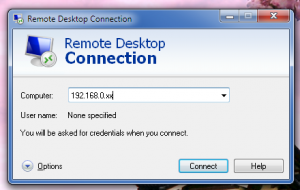 Connect to machine via Remote Desktop